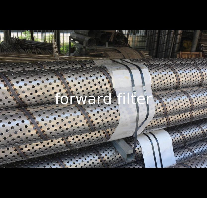 304 316L Perforated Stainless Steel Cylinder , Durable Perforated Filter Tube